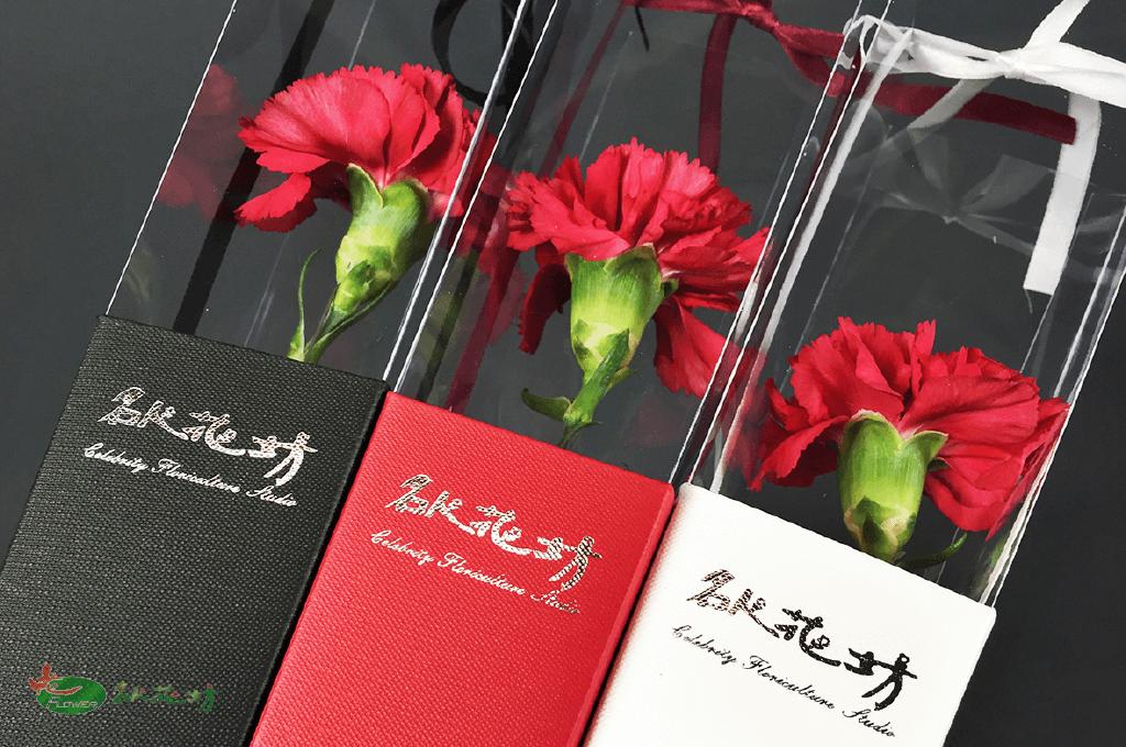 母親節康乃馨花束|單枝康乃馨包裝|母親節送花首選台中名人花坊康乃馨