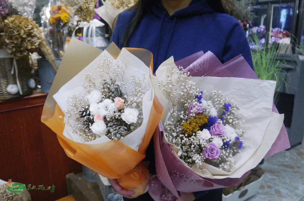 乾燥花永生花束|七夕情人節禮物推薦|乾燥花束|名人花坊