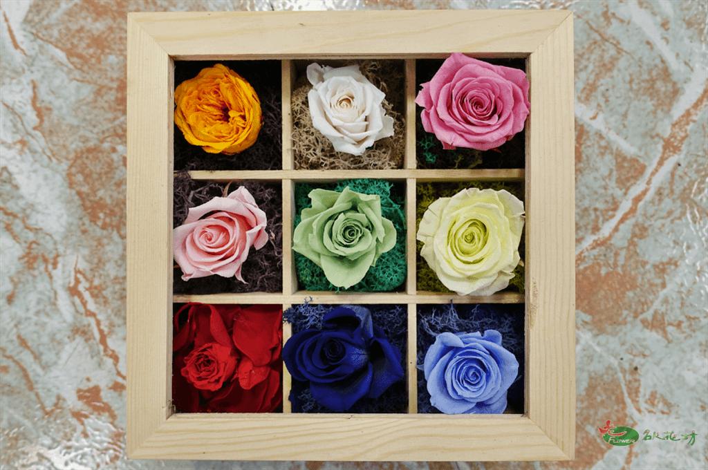 玫瑰永生花盒推薦|永生花盒送禮|七夕情人節禮物選擇|名人花坊