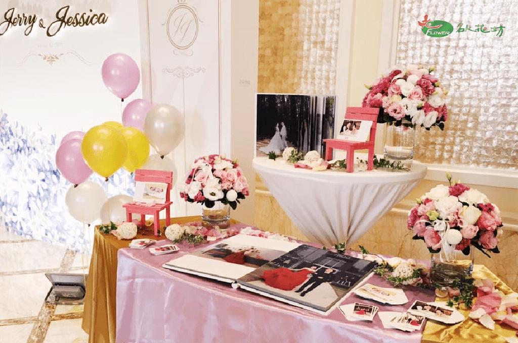 婚禮會場花藝布置 台中婚禮會場布置首選 名人花坊婚禮布置