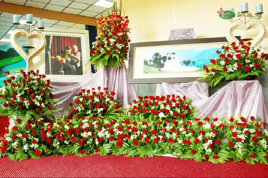 玫瑰婚禮花藝佈置 台中婚禮會場佈置首選名人花坊 專業婚禮花藝